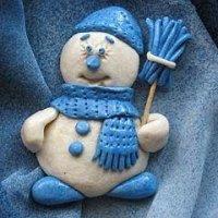 Солоний сніговик своїми руками з тіста